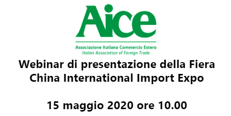 Webinar di presentazione della Fiera: China International Import Expo