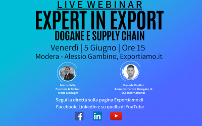 Expert in Export Live – Dogane e Supply Chain