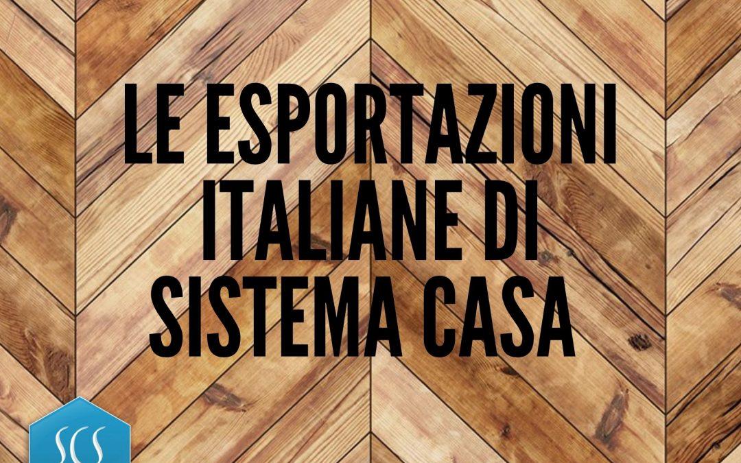 LE ESPORTAZIONI ITALIANE DI SISTEMA CASA NEL I SEMESTRE 2021